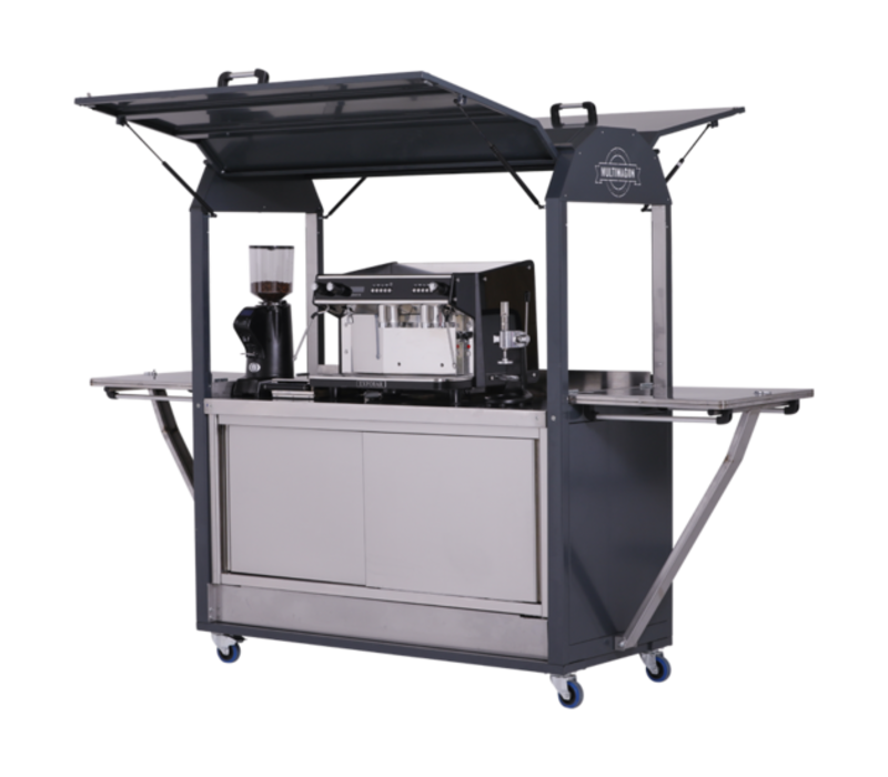 MultiWagon Coolrolly Barista | Multifunctionele Mobiele Pop-up Koffiewagen | 1850x750x(H)2040mm