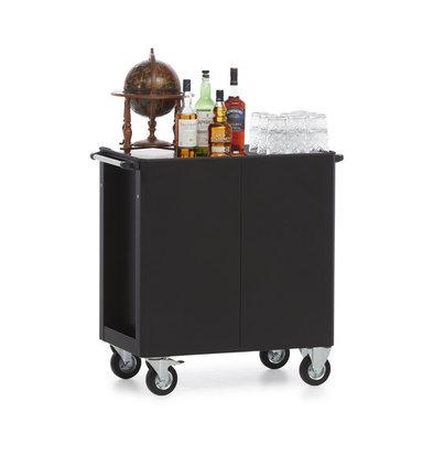 MultiWagon Serveer Trolley Whisky/cognac | Multifunctionele Mobiele Trolley | 790x490x(H)900mm
