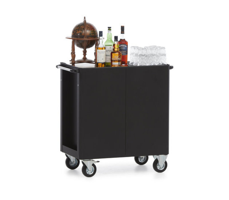 MultiWagon Serveer Trolley Whisky/cognac | Multifunctionele Mobiele Trolley | 790x490x(H)900mm