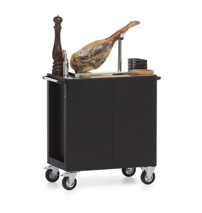 MultiWagon Serveer Trolley Ham| Multifunctionele Mobiele Trolley | 790x490x(H)900mm