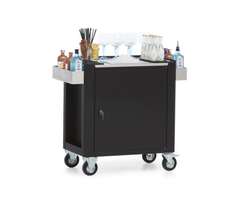 MultiWagon  Serveer Trolley Gin| Multifunctionele Mobiele Trolley | 790x490x(H)900mm