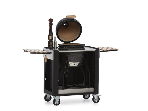 MultiWagon  Serveer Trolley Barbecue| Multifunctionele Mobiele Trolley | 790x490x(H)900mm