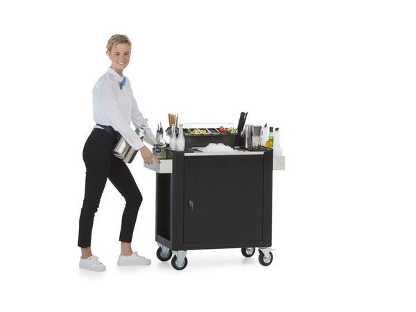 MultiWagon  Serveer Trolley Cocktail| Multifunctionele Mobiele Trolley | 790x490x(H)900mm
