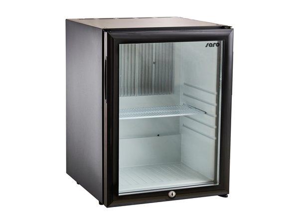 Saro Minibar Koelkast MB 30   Glazen Deur   402x428x(H)500mm
