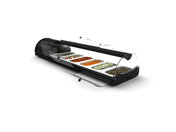 SAYL SHOW MODEL | Self Service Tapas Showcase | Suitable for 1 / 3GN 40mm | LED-lighting