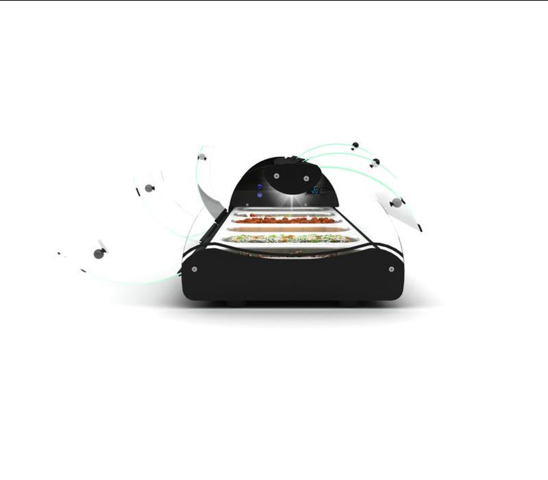 SAYL SHOWMODEL   Self Service Tapasvitrine   Geschikt voor 1/3GN 40mm   LED Verlichting
