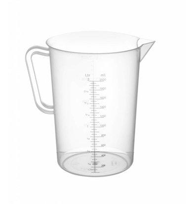 Hendi Measuring cup Plastic for Hospitality - Polypropylene - Ø140x215mm - 2 Liter