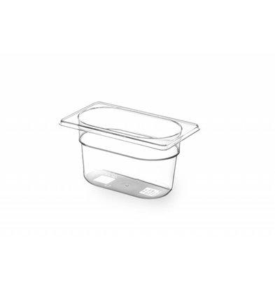 Hendi Gastronormbak 1/9 - 100 mm - BPA-free Tritan