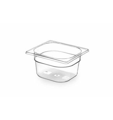 Hendi Gastronormbak sixth - 100 mm - BPA-free Tritan