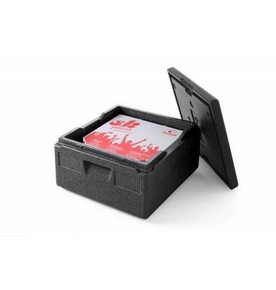 Hendi Thermobox Pizza | 21 Liter | -20 ° C to + 110 ° C | 410x410x (H) 240mm