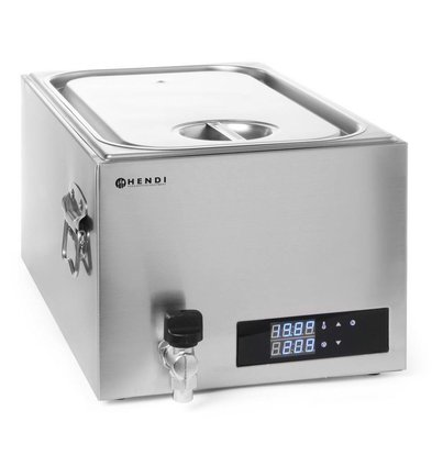 Hendi Sous-vide Bain-Marie 20 liters - 600 W - stainless steel - 600x330x (H) 300 mm