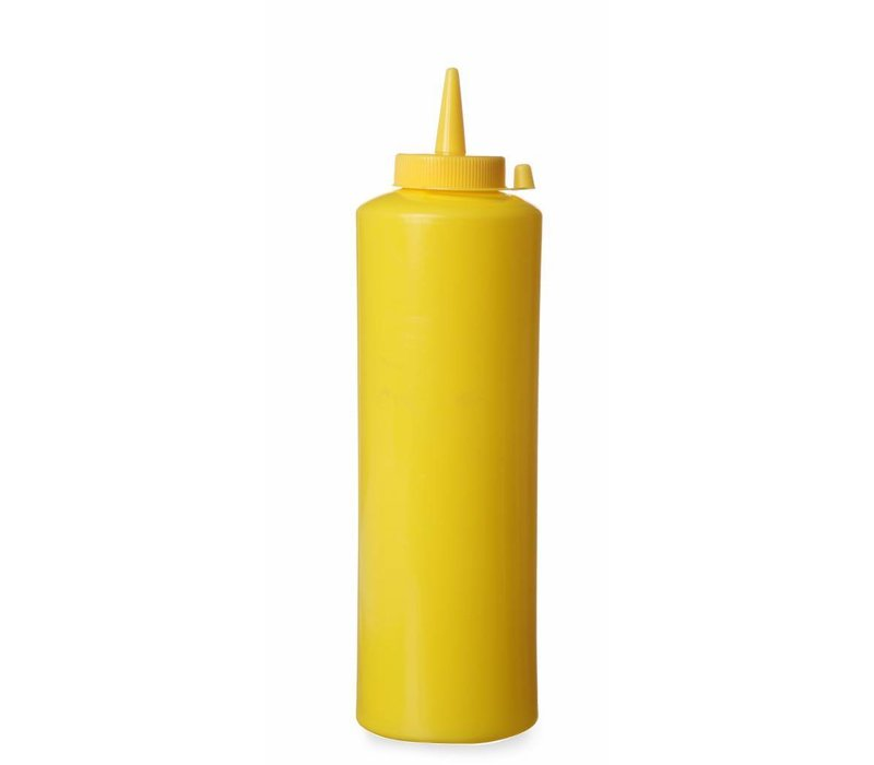 Hendi Dispenser bottle Yellow | 35 cl | PE cap PC | 55x (H) 205mm