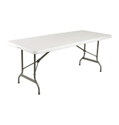 Bolero SHOW MODEL   Table Complete Collapsible - White gray - 73.5 (h) x183 (w) cm - XXL OFFER