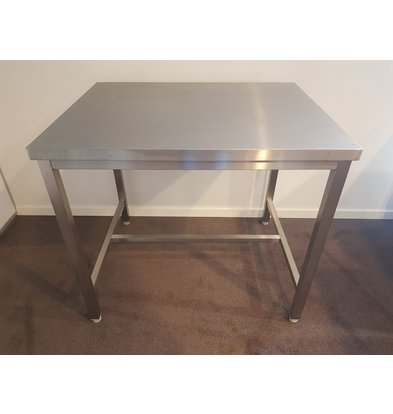 XXLselect SHOW MODEL   Stainless steel work table   1000 x 800 mm