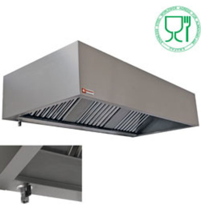 Diamond Wall Extractor hood stainless steel | Gastro Line | Available in 9 sizes