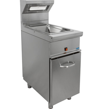 Saro Frites Keep Warm Device | With Base and Door | 1 / 1GN | 1 kW | 400x700x (H) 850 / 1170mm