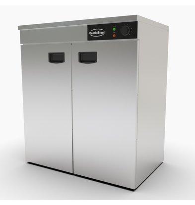 Combisteel Warmhoudkast RVS AISI 201 | 2 Deuren | 90-120 Borden | 750x485x(H)850mm