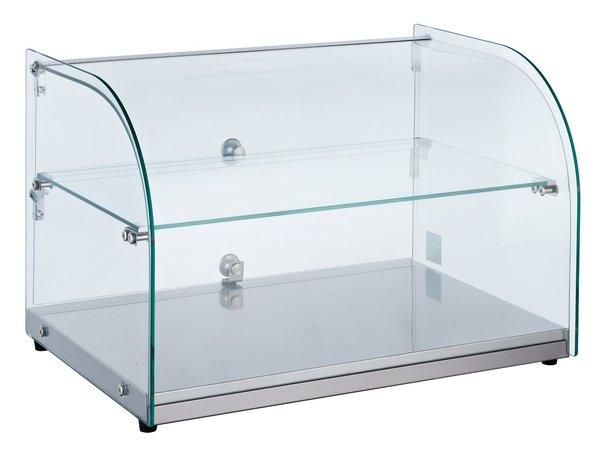 Combisteel Neutrale Vitrine | Gebogen Glas | 45 Liter | 554x376x(H)370mm