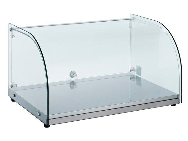 Combisteel Neutrale Vitrine | Gebogen Glas | 25 Liter | 554x376x(H)305mm