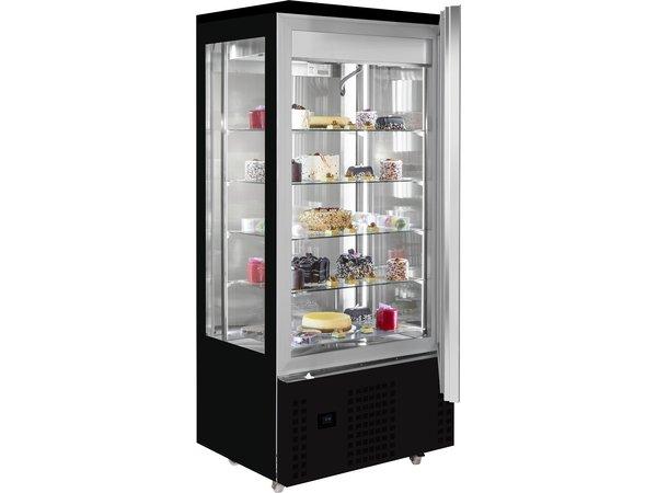 Combisteel Gekoelde Gebaksvitrine Chocolade | Zwart | 400 Liter | 800x660x(H)1870mm