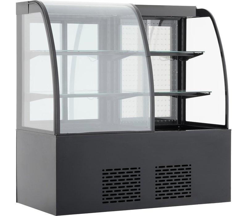 Combisteel Koelvitrine | Zwart Model | 345+300 Liter | 1415x730x(H)1490mm