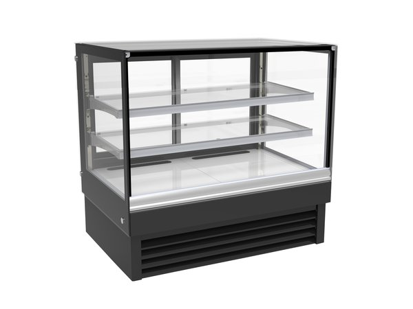 Combisteel Cold display case Straight | Black Model 257 liters | 1200x680x (H) 1200mm