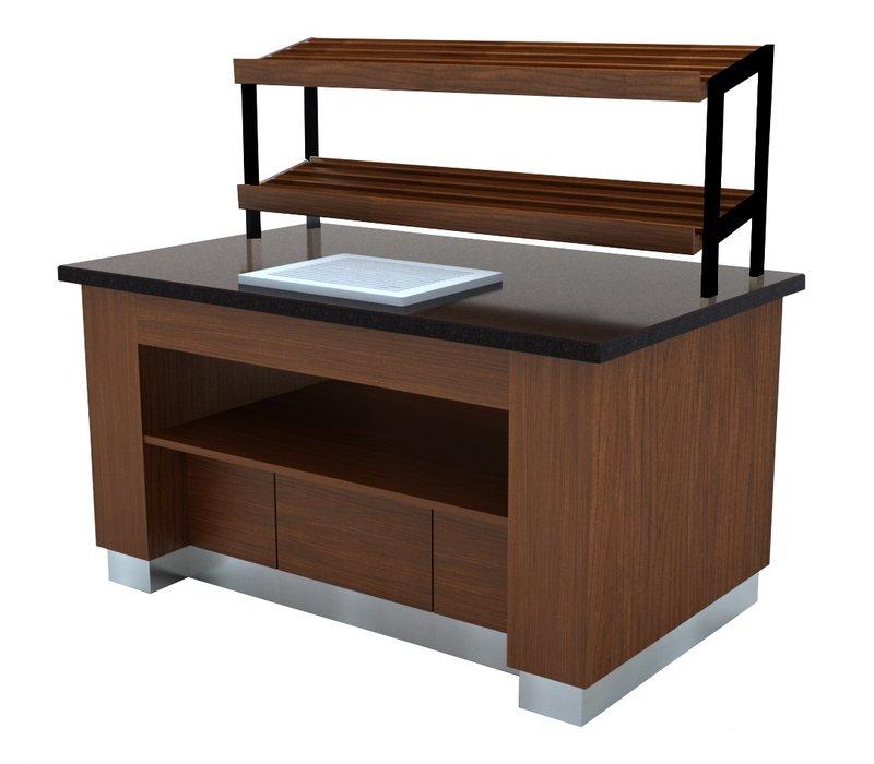 Combisteel Brood Buffet Wenge | 1600x1000x(H)900mm