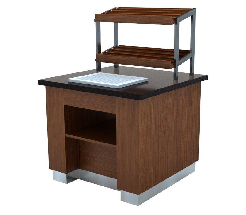 Combisteel Brood Buffet Wenge | 1000x1000x(H)900mm