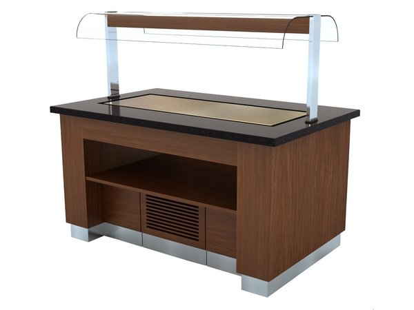 Combisteel Chilled Buffet Wenge | 1600x1000x (H) 900/1450 mm