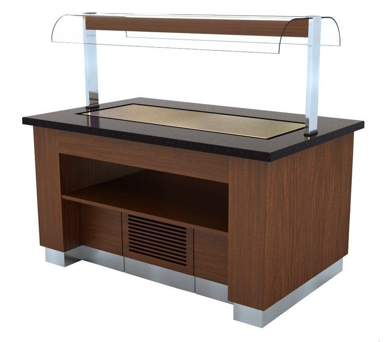 Combisteel Gekoeld Buffet Wenge | 1600x1000x(H)900/1450mm
