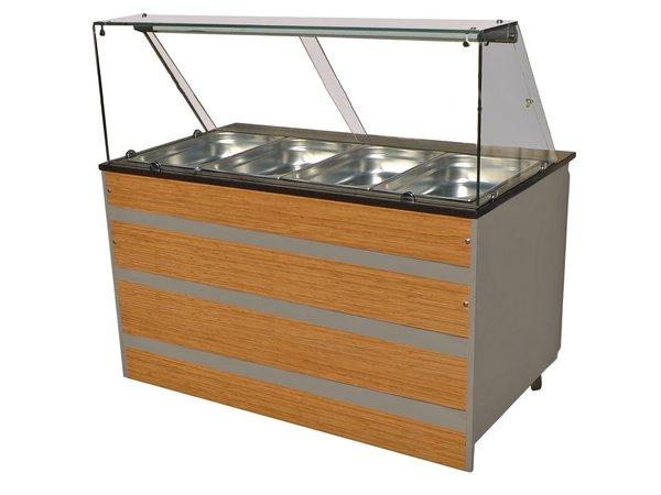 Combisteel Warm Buffet GN 4/1 | Glasopbouw | 1400x800x(H)850/1350mm