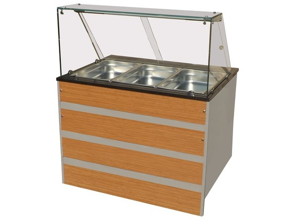 Combisteel Warm Buffet GN 3/1 | Glass construction 1070x800x (H) 850 / 1350mm
