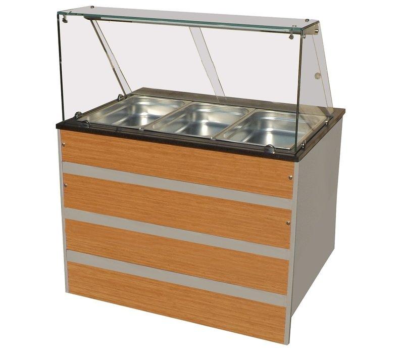 Combisteel Warm Buffet GN 3/1 | Glasopbouw | 1070x800x(H)850/1350mm