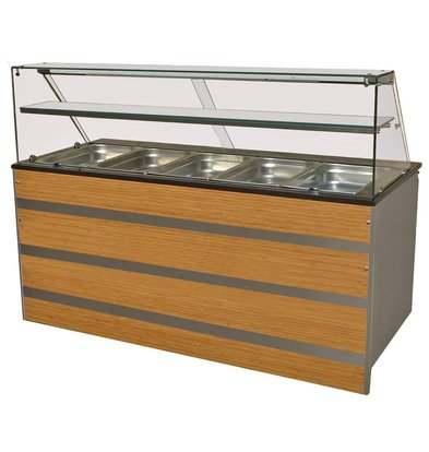 Combisteel Chilled Buffet GN 5/1 | Glass construction 1800x800x (H) 850 / 1350mm