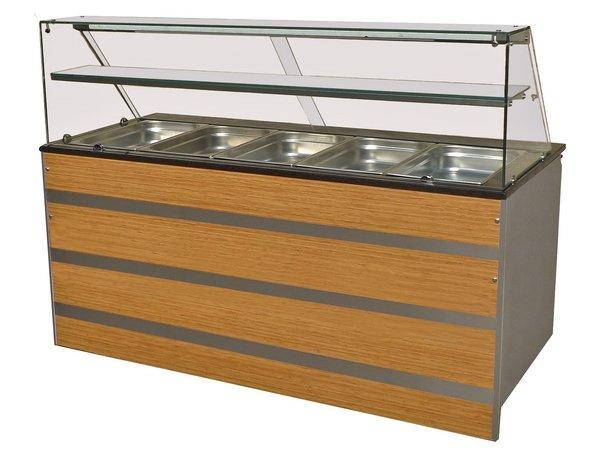 Combisteel Gekoeld Buffet GN 5/1 | Glasopbouw | 1800x800x(H)850/1350mm