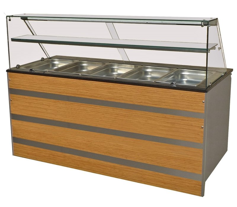 Combisteel Chilled Buffet GN 5/1 | Glass construction 1800x800x (H) 850 / 1350mm