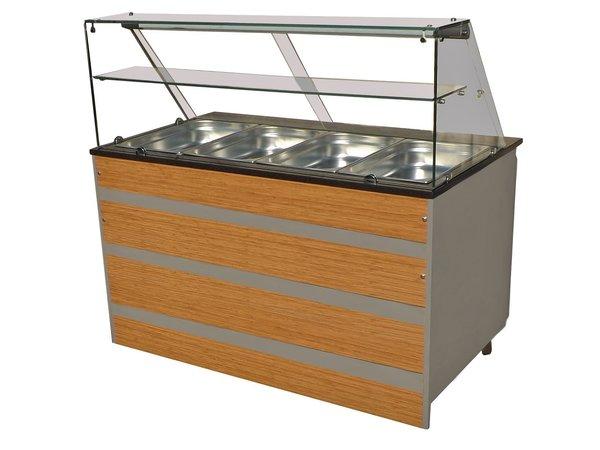 Combisteel Gekoeld Buffet GN 4/1 | Glasopbouw | 1400x800x(H)850/1350mm