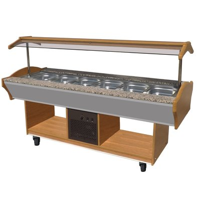 Combisteel Chilled Buffet GN 6/1 | 2200x900x (H) 850/1350 mm