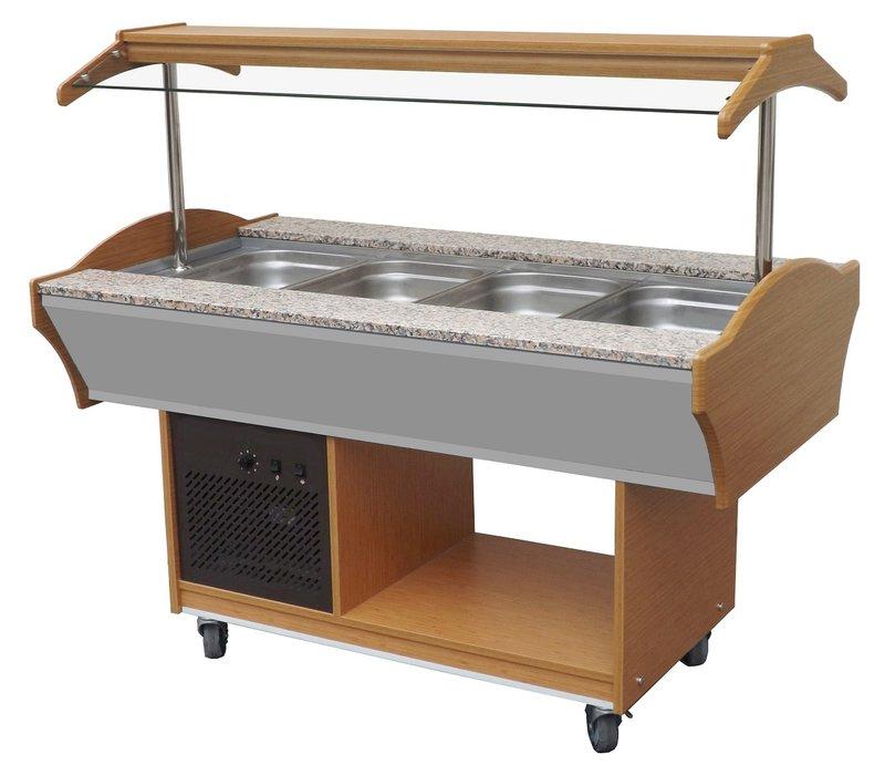 Combisteel Gekoeld Buffet GN 4/1 | 1550x900x(H)850/1350mm