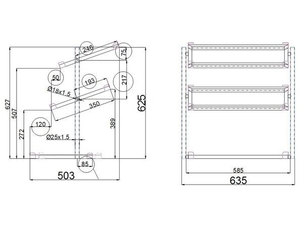 Combisteel Broodmanden Etagere |  3 Niveaus | 620x335x(H)760mm