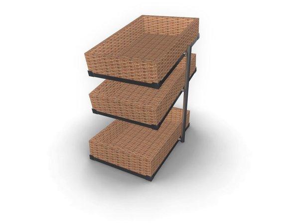 Combisteel Broodmanden Etagere |  3 Niveaus | 335x620x(H)760mm