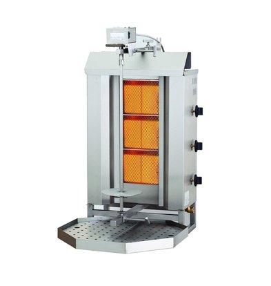 Combisteel Gyros Grill Gas 3 Heat zones 9.7 kW | 515x550x (H) 960mm