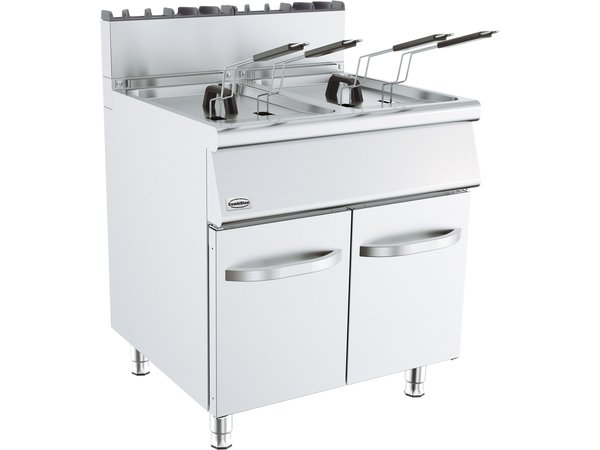 Combisteel Base 700 Gas Friteuse | 2x 15 kW | 2x 15 Liter | 800x700x(H)900mm