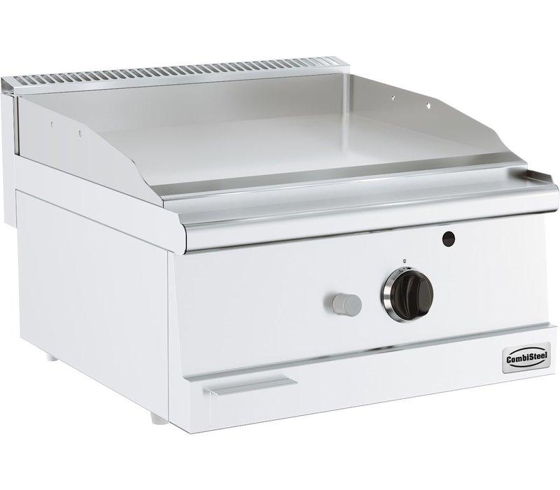Combisteel Bas 600 Gasbakplaat Tafelmodel | Glad 7 kW | 600x600x(H)300mm