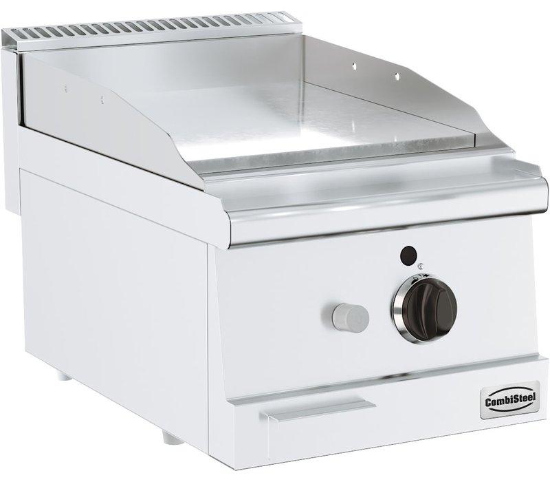 Combisteel Bas 600 Gasbakplaat Tafelmodel | Verchroomd Glad 6 kW | 400x600x(H)300mm