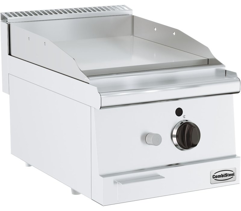 Combisteel Bas 600 Gasbakplaat Tafelmodel | Glad 6 kW | 400x600x(H)300mm