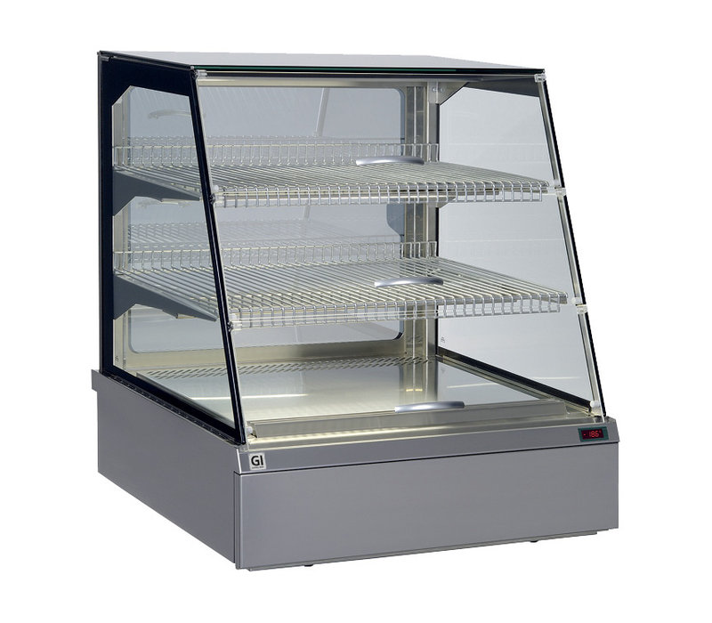 Snacks to Go SnacksToGo Koelvitrine | RVS met Veiligheidsglas | 746x717x(H)845mm