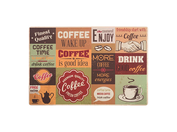 XXLselect Coffee Art Placemat 300x450mm | Beschikbaar in 3 Modellen