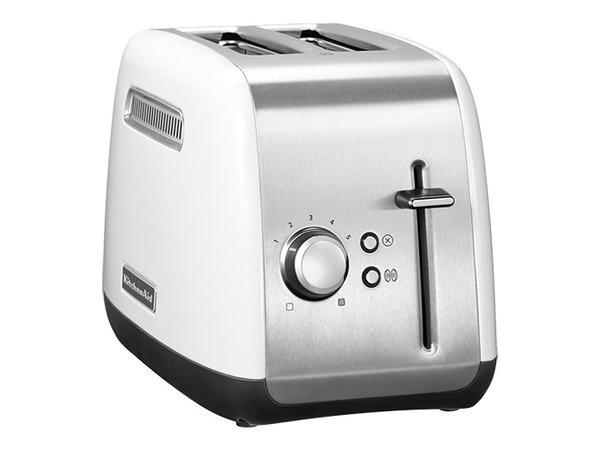 Kitchenaid Broodrooster Wit 2 Sleuven | Bruiningsregelaar | 1100W | 190x290x(H)210mm