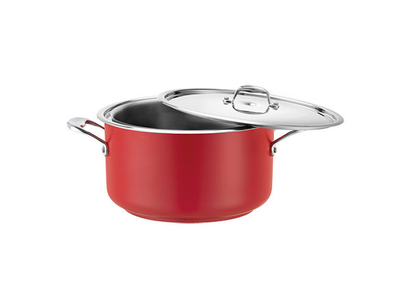 Pujadas Bain-Marie Pan | Rood Model | Met Deksel | Beschikbaar in 3 Maten